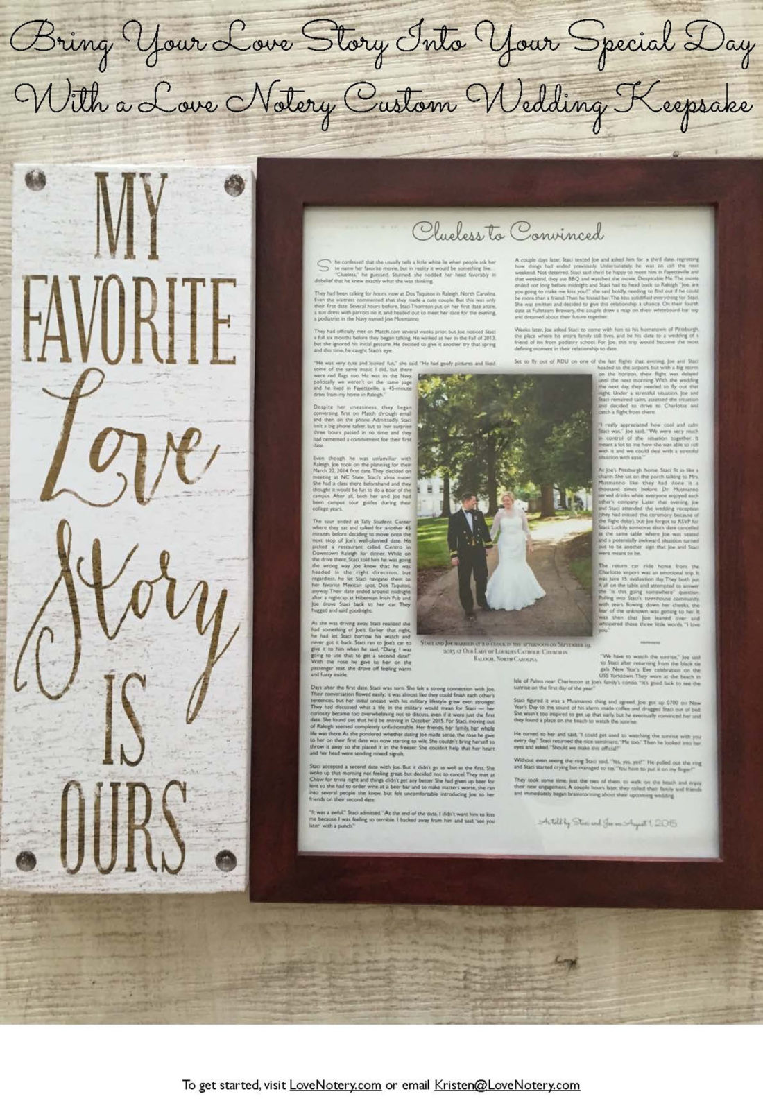 Turn Your Or Their Love Story Into An Elegant Keepsake